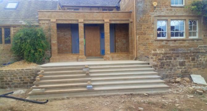 Ironstone porch